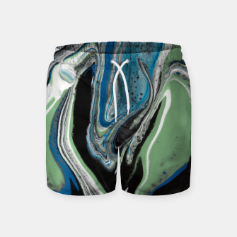 Thumbnail image of Photo Peinture Acrylique Bleu/Vert Le short de bain, Live Heroes