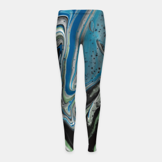 Thumbnail image of Photo Peinture Acrylique Bleu/Vert Leggings de fille, Live Heroes