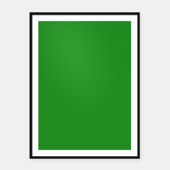 Thumbnail image of color forest green Framed poster, Live Heroes