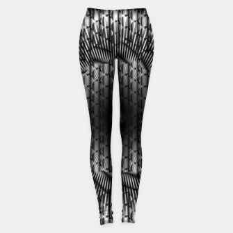 Thumbnail image of black and white illusion 1 Leggings, Live Heroes