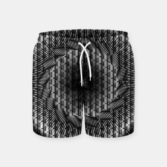 Thumbnail image of black and white illusion 1 Swim Shorts, Live Heroes