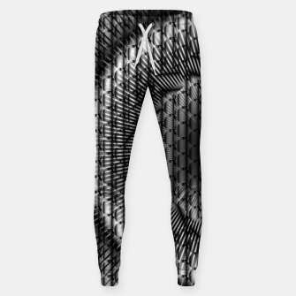 Thumbnail image of black and white illusion 1 Sweatpants, Live Heroes