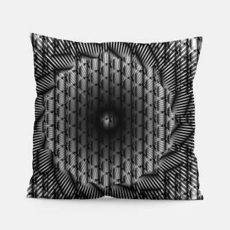 Miniatur black and white illusion 1 Pillow, Live Heroes