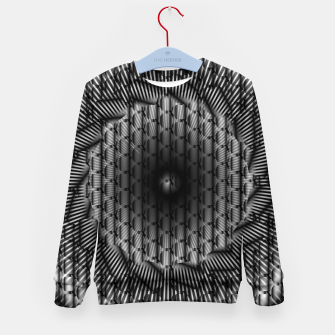 Miniatur black and white illusion 1 Kid's sweater, Live Heroes