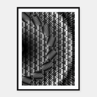 Miniaturka black and white illusion 1 Framed poster, Live Heroes