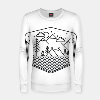 Miniatur Camping Line Women sweater, Live Heroes