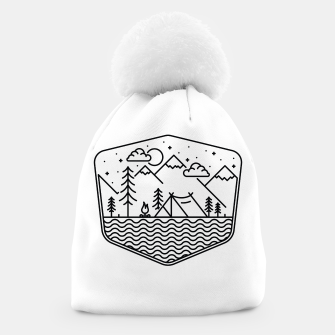 Miniatur Camping Line Beanie, Live Heroes