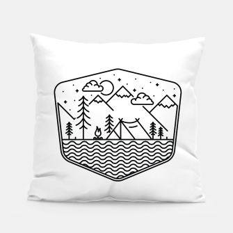 Miniatur Camping Line Pillow, Live Heroes