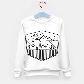 Miniatur Camping Line Kid's sweater, Live Heroes