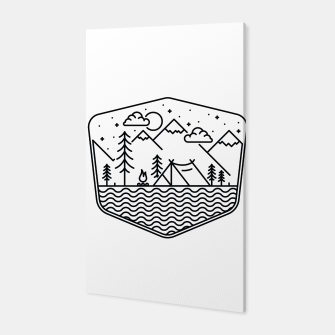 Miniatur Camping Line Canvas, Live Heroes