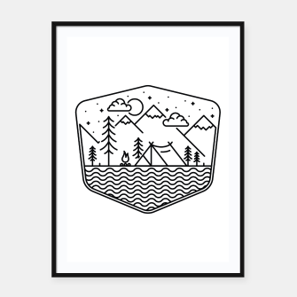 Thumbnail image of Camping Line Framed poster, Live Heroes