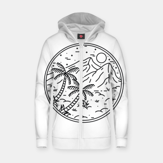 Miniature de image de Coconut Tree Zip up hoodie, Live Heroes