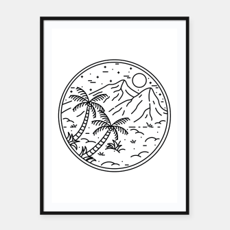 Miniatur Coconut Tree Framed poster, Live Heroes