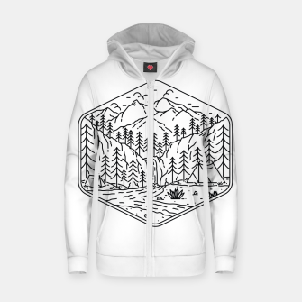 Miniatur Great Camping Zip up hoodie, Live Heroes