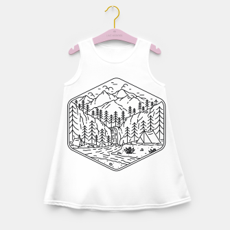 Miniatur Great Camping Girl's summer dress, Live Heroes