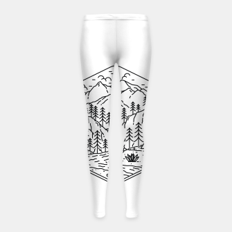 Miniatur Great Camping Girl's leggings, Live Heroes