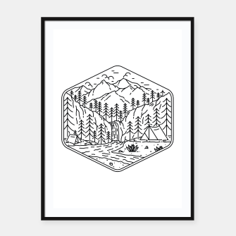 Thumbnail image of Great Camping Framed poster, Live Heroes
