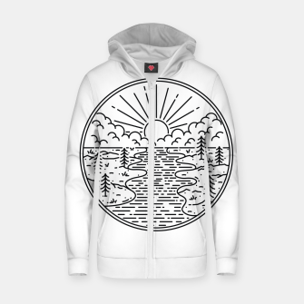 Thumbnail image of Great Nature Zip up hoodie, Live Heroes
