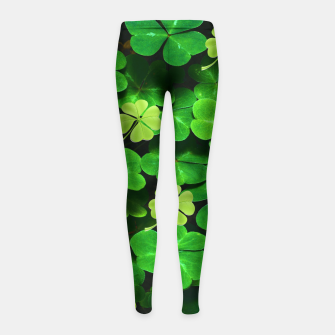 Thumbnail image of St. Patrick's Day  Girl's leggings, Live Heroes