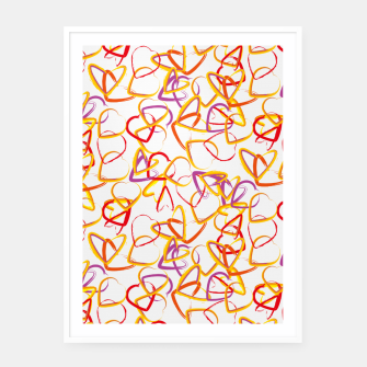 Miniatur Hearts Framed poster, Live Heroes