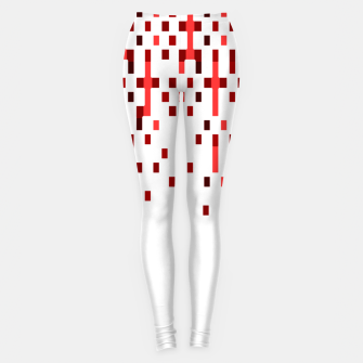 Thumbnail image of Red and White Matrix Patterned Design Leggings, Live Heroes