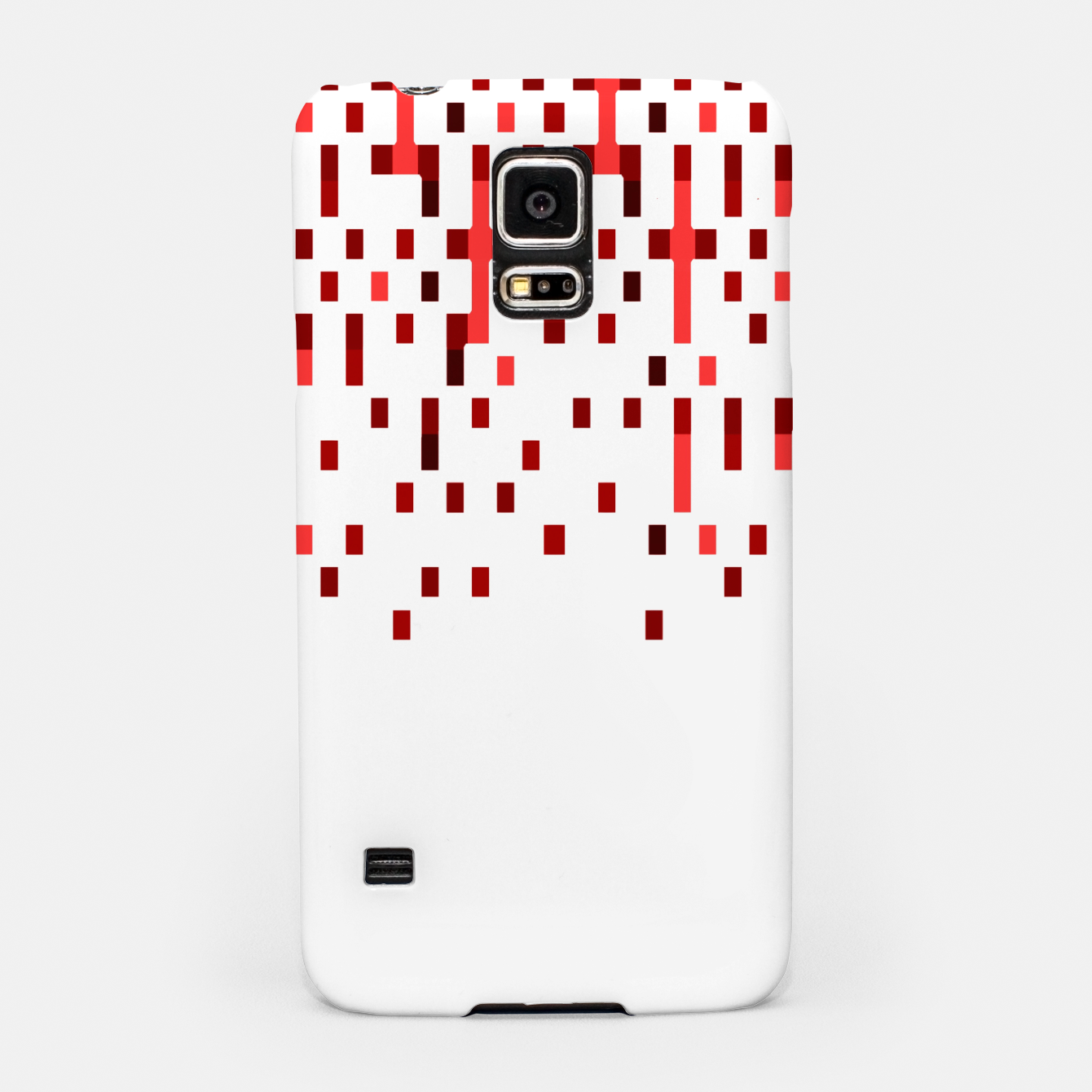 Zdjęcie Red and White Matrix Patterned Design Samsung Case - Live Heroes