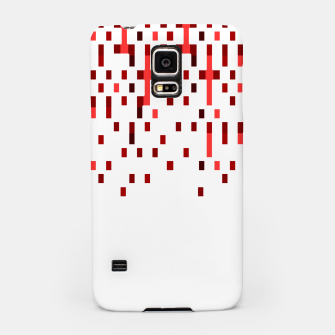Red and White Matrix Patterned Design Samsung Case obraz miniatury