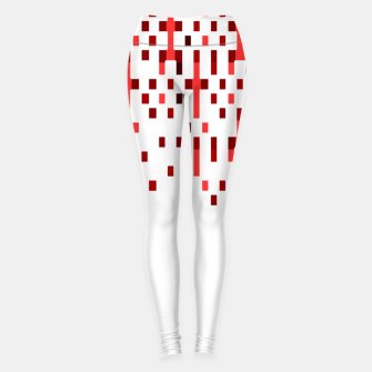 Red and White Matrix Patterned Design Leggings obraz miniatury