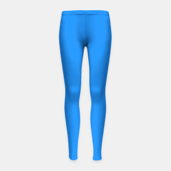 Thumbnail image of color dodger blue Girl's leggings, Live Heroes