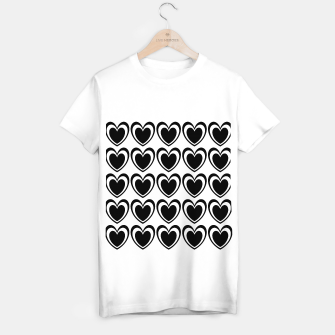 Thumbnail image of Heart pattern black and white T-shirt regular, Live Heroes