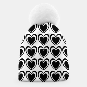 Miniature de image de Heart pattern black and white Beanie, Live Heroes