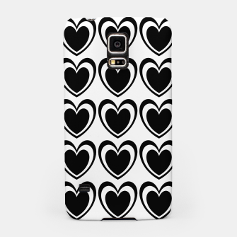 Miniaturka Heart pattern black and white Samsung Case, Live Heroes