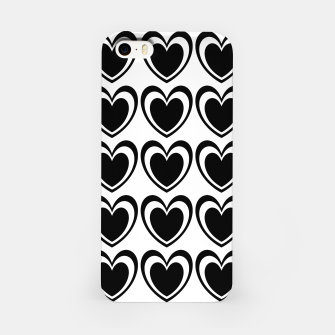 Imagen en miniatura de Heart pattern black and white iPhone Case, Live Heroes
