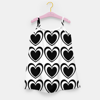 Miniatur Heart pattern black and white Girl's dress, Live Heroes