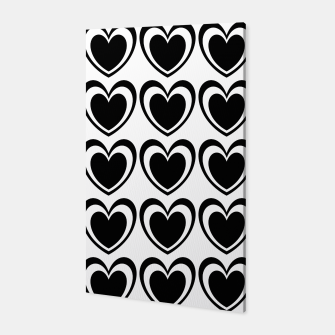 Miniatur Heart pattern black and white Canvas, Live Heroes