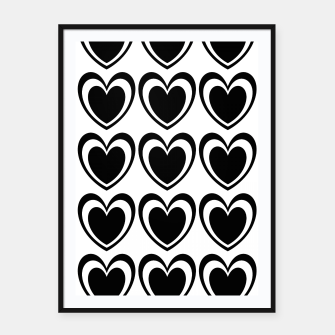 Miniaturka Heart pattern black and white Framed poster, Live Heroes