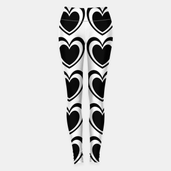 Thumbnail image of Heart pattern black and white Leggings, Live Heroes