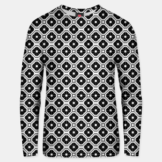 Thumbnail image of Black and white diamond pattern Unisex sweater, Live Heroes