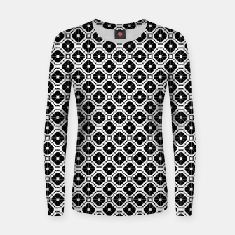 Imagen en miniatura de Black and white diamond pattern Women sweater, Live Heroes