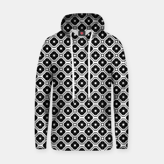 Thumbnail image of Black and white diamond pattern Hoodie, Live Heroes