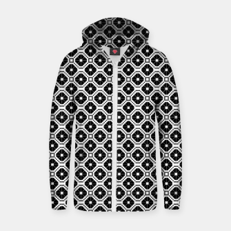 Miniature de image de Black and white diamond pattern Zip up hoodie, Live Heroes