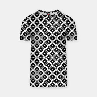 Thumbnail image of Black and white diamond pattern T-shirt, Live Heroes