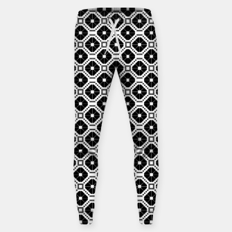 Thumbnail image of Black and white diamond pattern Sweatpants, Live Heroes