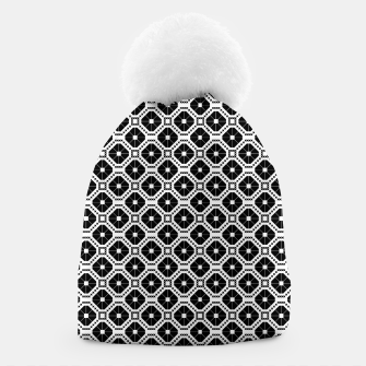 Miniature de image de Black and white diamond pattern Beanie, Live Heroes
