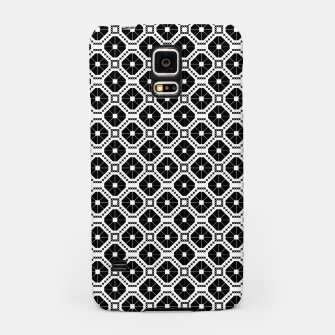 Miniaturka Black and white diamond pattern Samsung Case, Live Heroes