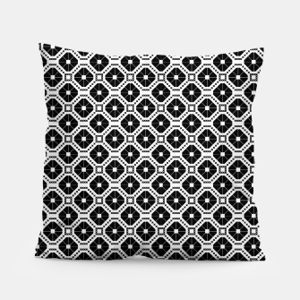 Thumbnail image of Black and white diamond pattern Pillow, Live Heroes