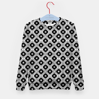 Thumbnail image of Black and white diamond pattern Kid's sweater, Live Heroes