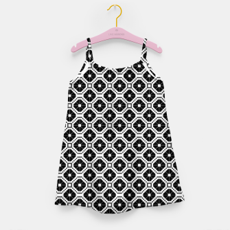 Thumbnail image of Black and white diamond pattern Girl's dress, Live Heroes