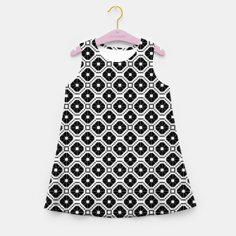 Miniatur Black and white diamond pattern Girl's summer dress, Live Heroes