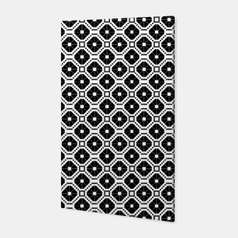 Thumbnail image of Black and white diamond pattern Canvas, Live Heroes